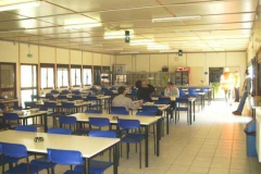 Canteen for 250 people fitted  into a prefabricated structure.